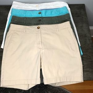 Talbots The Weekend Short Bundle of 4 -size 6P